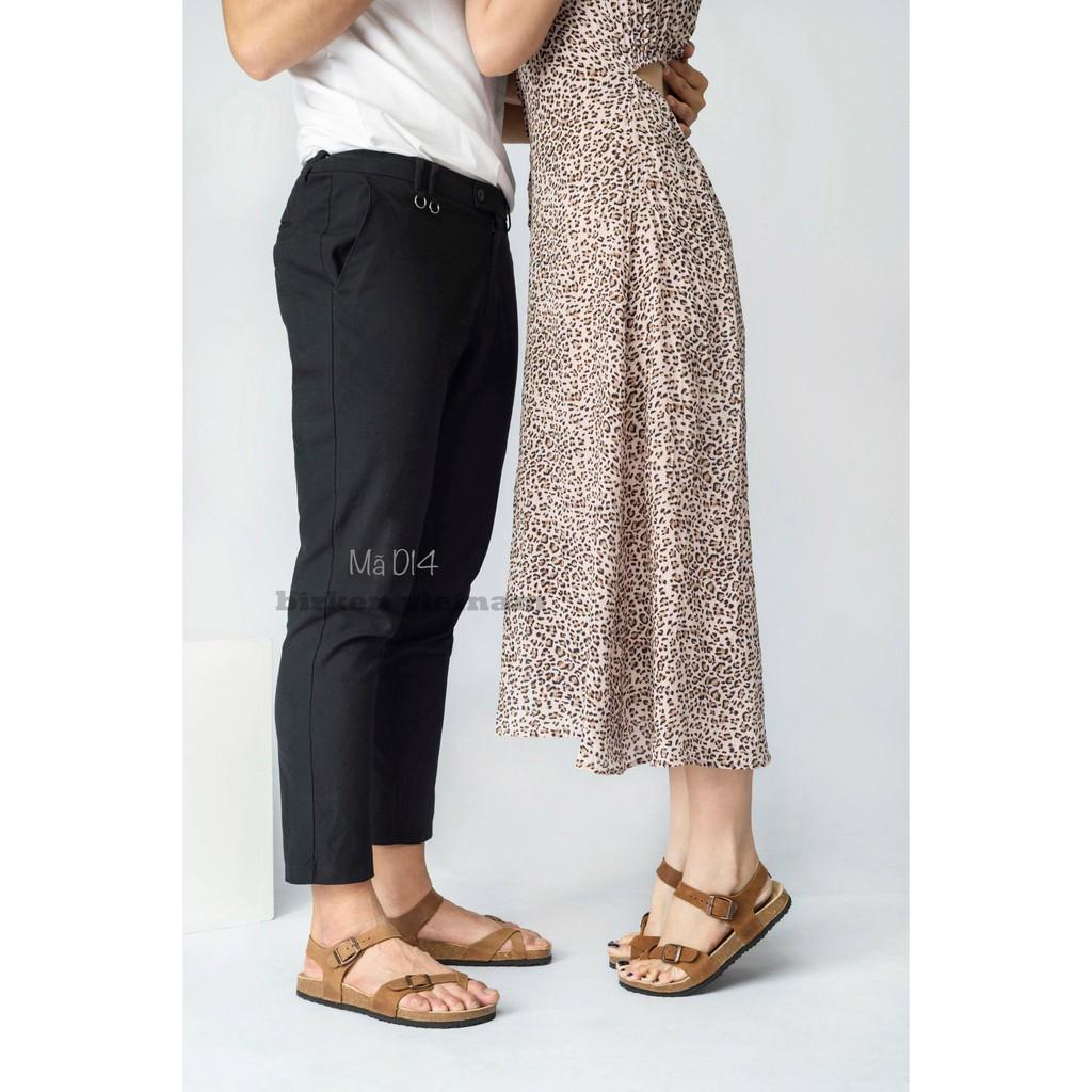 Giày birken vietnam sandals da bò unisex xuất khẩu châu âu mã  D14 bioline