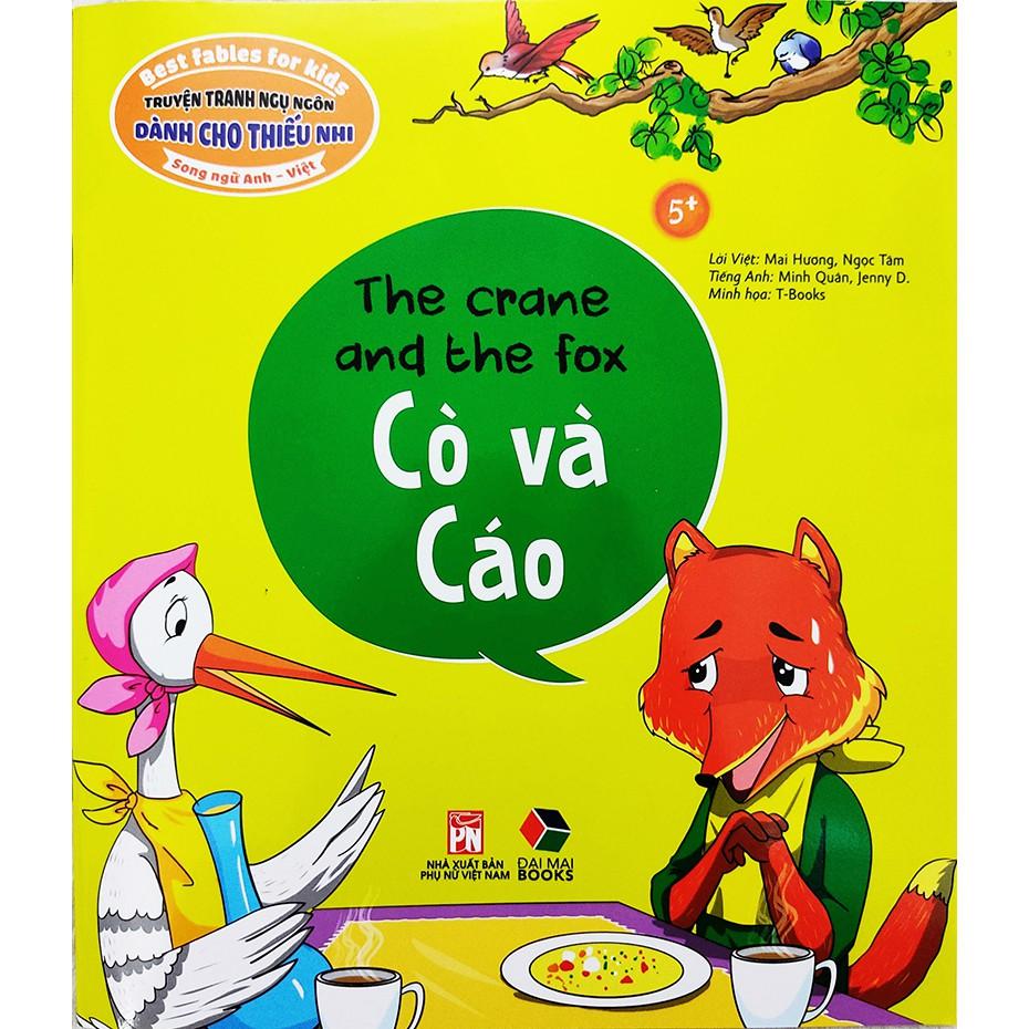 Sách cho bé - Truyện Tranh Ngụ Ngôn Dành Cho Thiếu Nhi: Cò Và Cáo (Song Ngữ  Anh - Việt) tại Hà Nội