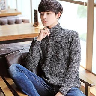 Áo len nam cao cổ thời trang ấm đẹp