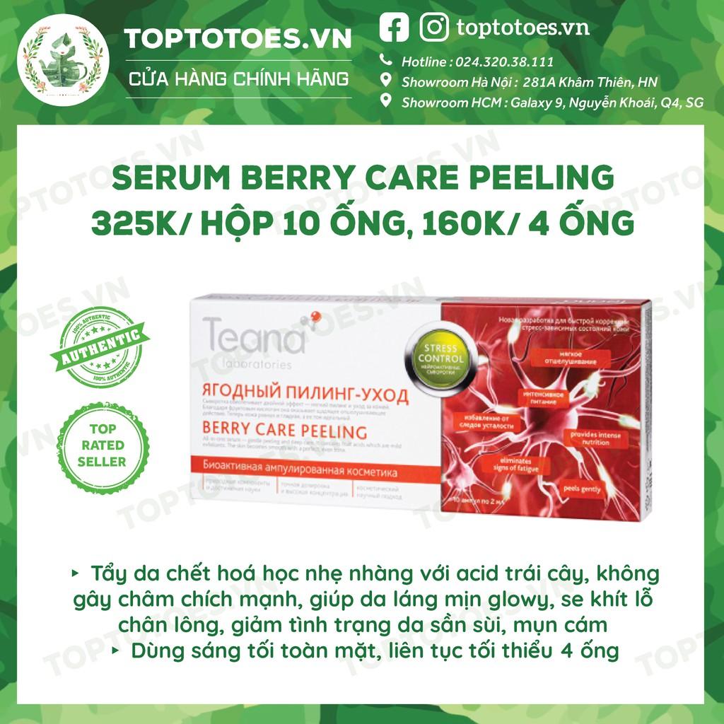 Serum Teana Stress Control Berry Care Peeling tẩy da chết hoá học nhẹ nhàng, làm da bóng mịn, se lỗ chân lông
