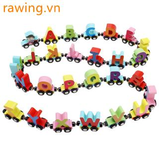 27 Pcs/Set Magnetic Train Cars Alphabets/Digital Toy Set Toy Train Set for Kids Toddler Boys Girls