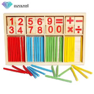 Wooden Children Teaching Aids Learning Math Game Stick Educational Toys