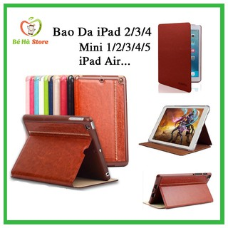Bao Da iPad 2-3-4 Mini 1-2-3-4-5 Air 1-2 iPad new 2017-2018 Pro 9.7-10.5-11inch Gen 7 10.2inch Chính Hãng KAKU thumbnail