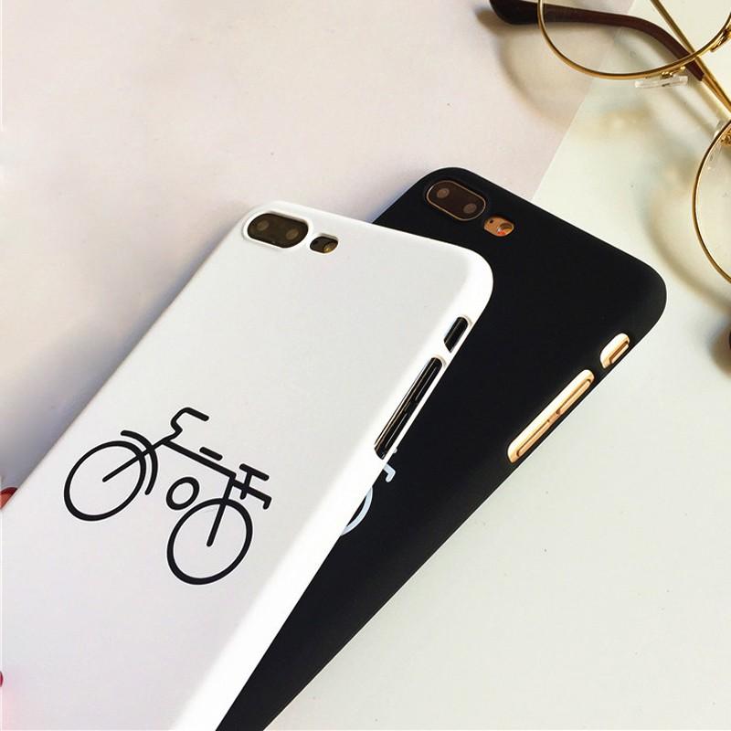 Ốp lưng cặp hình xe đạp trắng đen 3d iphone 5-5s-5se-6-6s-6 plus-6s plus-7-7 plus-8-8 plus