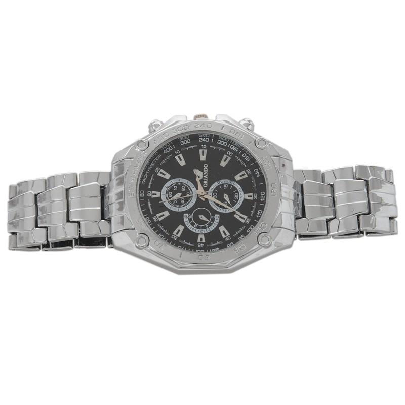 ORLANDO Mens Steel Luxury Sport Analog Quartz Wrist Watch Silver