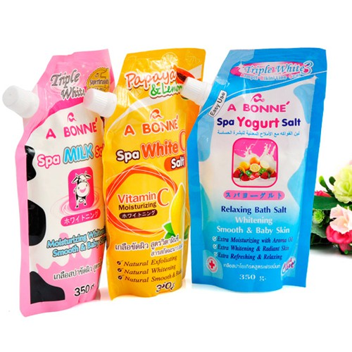 MUỐI TẮM ABONNE SPA SHOWER SALT FRUIT YOGURT THÁI LAN