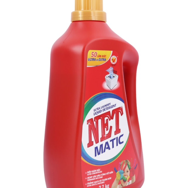 Nước Giặt Net Matic Chai 2.7 Kg