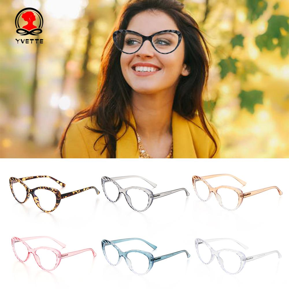 YVETTE Flexible Portable Anti Blue Rays Ultra Light Resin Women Men High Quality Computer Glasses