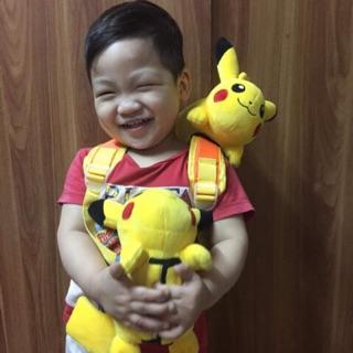 Gấu Bông Pikachu kiêm đệm lót dây túi sách balo