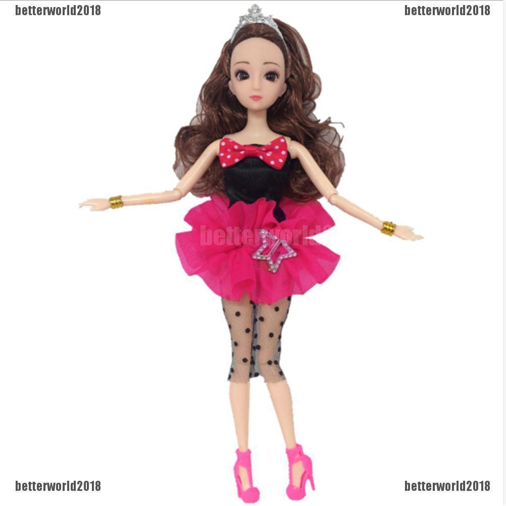 Đầm dài tay kiểu dáng công chúa thời trang cho búp bê Barbie