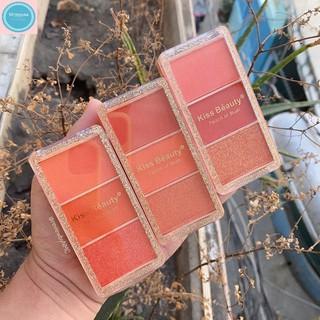 Má hồng-phấn má hồng đào 3 ô kiss beauty-sản phẩm trang điểm-sản phẩm làm đẹp giúp các bạn gái có một đôi má hồng hào