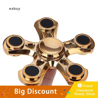 ★Ready Stock★Pocket Mini Stress Reducer Hand 5 Quinary Spinner EDC Toy for Kids Adult Gift