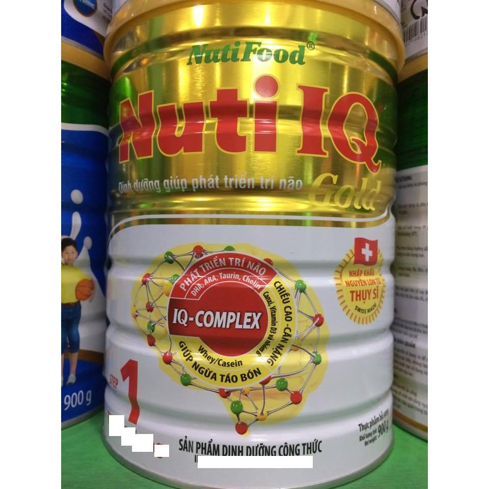 Sữa Nuti IQ Gold số 1 hộp 900g mua 6 lon tang 1 lon 400 g