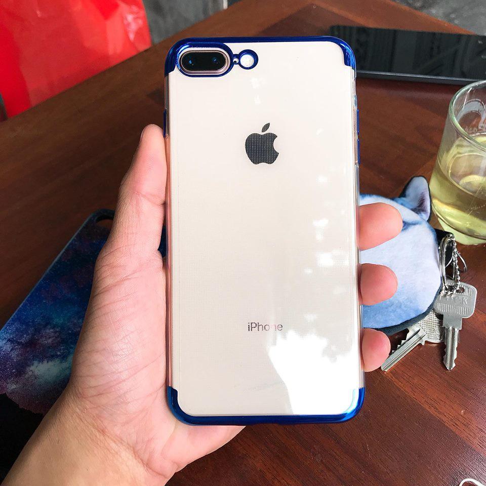 Ốp Lưng Iphone 7/8 Plus Silicon Viền Màu Thời Trang