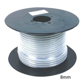 Dây cáp lụa bọc nhựa phi 3 – 4 – 5 – 6mm tính theo mét) – tăng đơ – khóa cáp