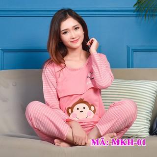 [ Siêu Hot] Bộ đồ bầu và sau sinh (70_90kg) 100%Cotton MK