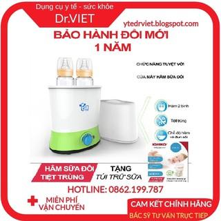 Máy Hâm Sữa Tiệt Trùng Đôi YAMMY (Tặng Kèm Túi Đựng Sữa)-Rã đông, hâm sữa, túi trữ sữa, hâm cháo, thức ăn cho bé an toàn thumbnail