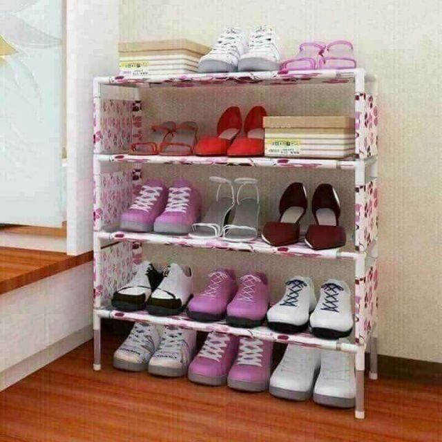 Kệ giày hoa 4 tầng