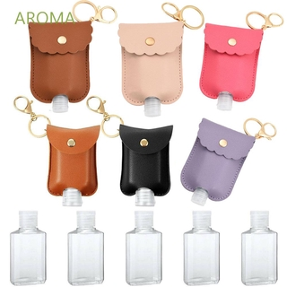 AROMA High Quality Refillable Bottle Travel Hand soap Bottle Spray Bottle Portable With Key Ring Empty For Hand Sanitizer Keychain Holder Plastic Cosmetic Container