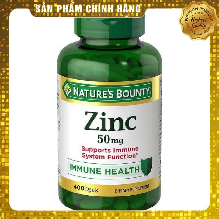 Viên uống bổ sung kẽm Nature's Bounty Zinc 50mg 400 viên