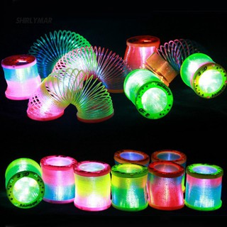 ஐSr Creative Glow in Dark Spring Toy Magical Folding Rainbow Circle Educational