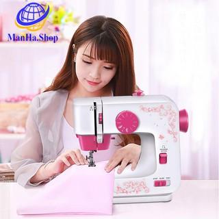 Máy may mini ManHa.Shop, Máy may gia đình với 12 kiểu máy khác nhau, Phù hợp mọi loại vải - Bảo hành 12 tháng, MDT042