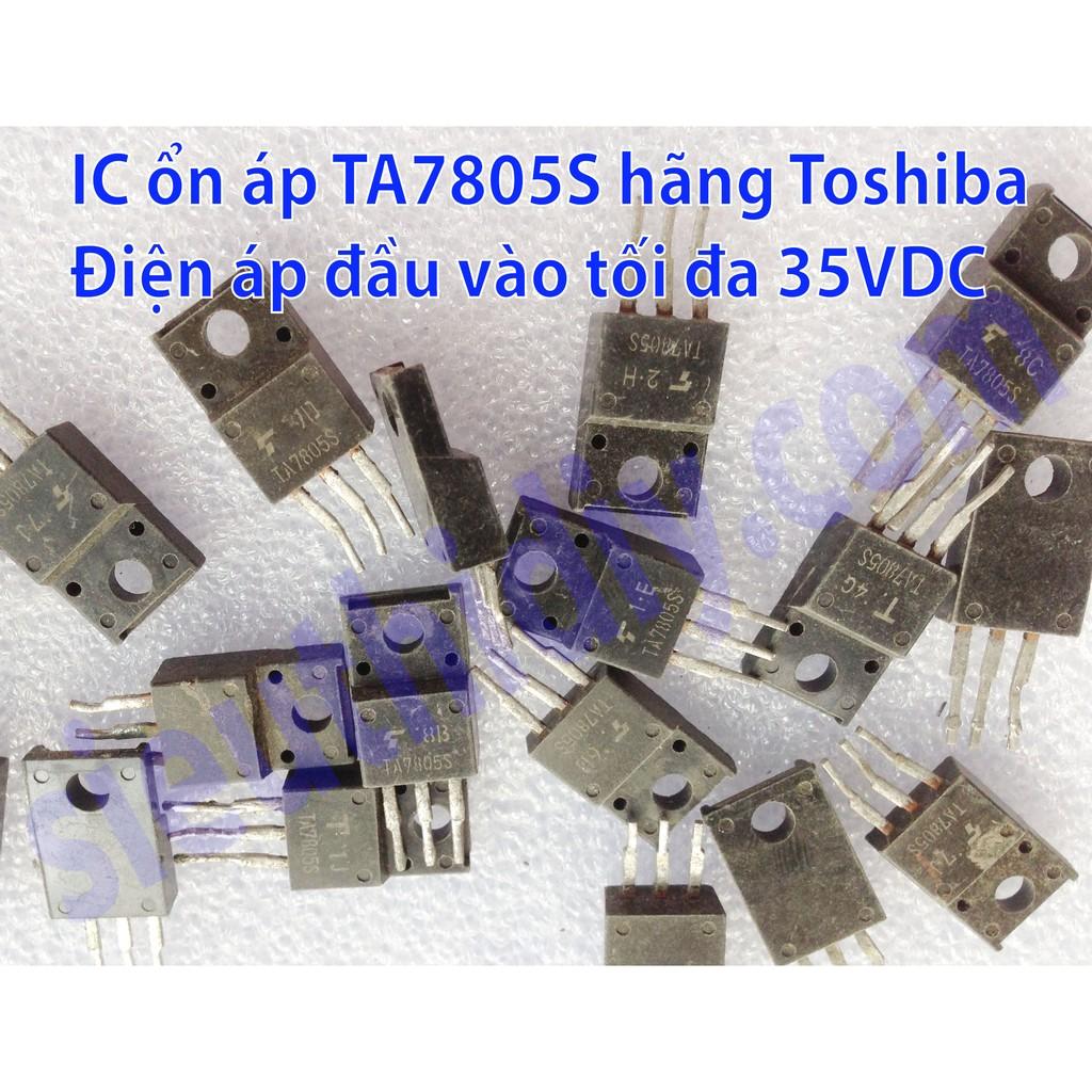 IC nguồn ổn áp TA7805S hãng Toshiba ra 5VDC 2nd (3 con)
