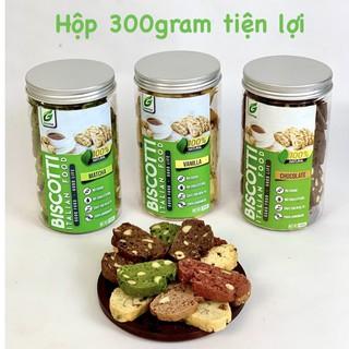 Bánh BISCOTTI GreenFood 5 vị nguyên cám KHÔNG ĐƯỜNG dành cho người ăn kiêng, giảm cân, tiểu đường