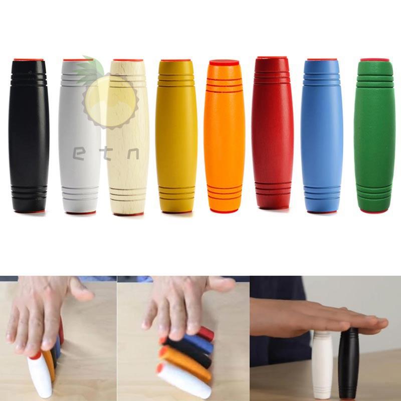 Fashion Desktop Rotating Toys Magic Funny Mokuru Relieve Stress Beech Rollover Tumbler Flipping Stick Adult Kid Toy