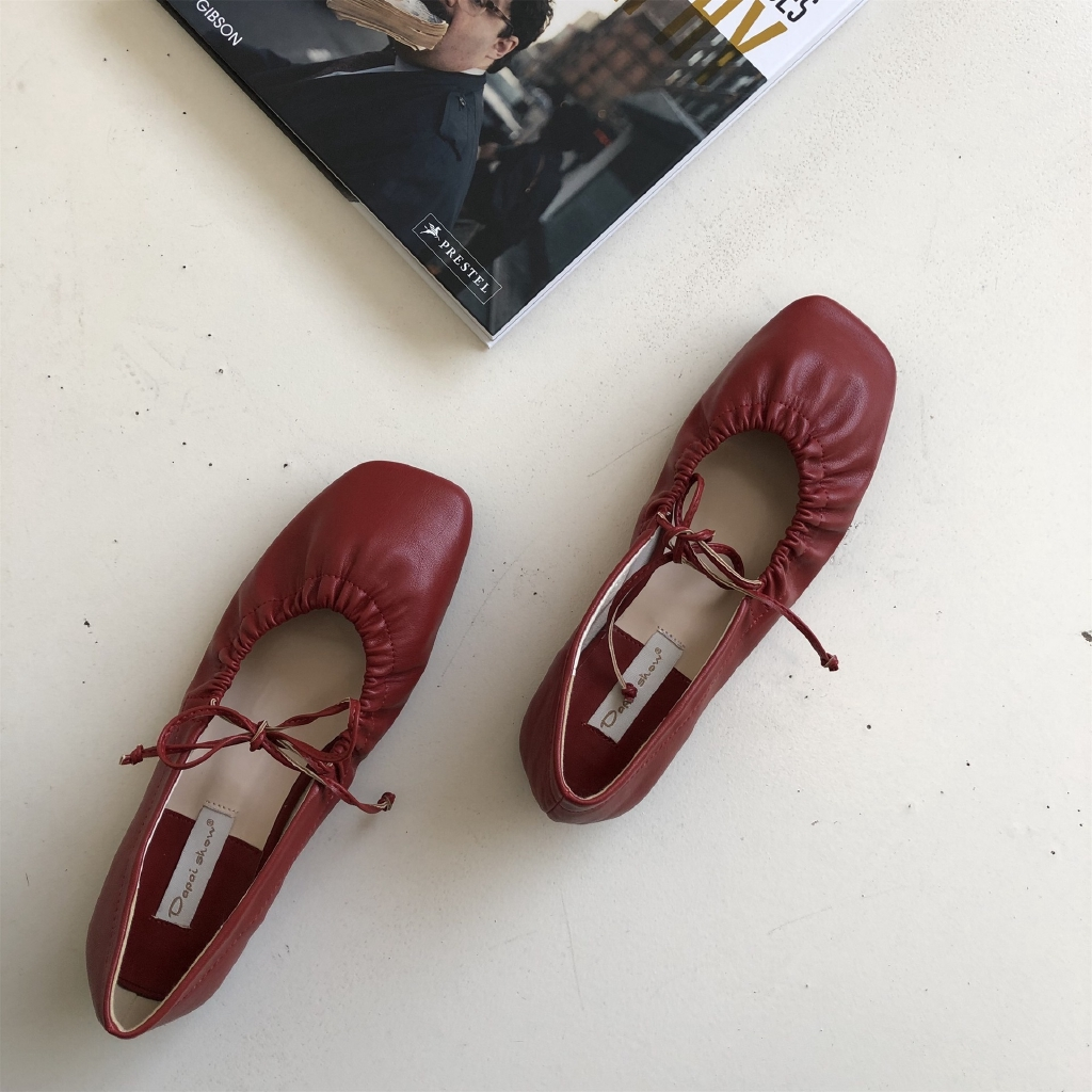 Giày Múa Ba Lê Dapaiho2020 Đế Mềm Đính Nơ Xinh Xắn