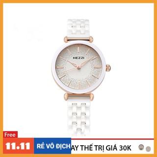 Đồng hồ nữ Kezzi 1439 dây đá sứ thật hàng chính hãng