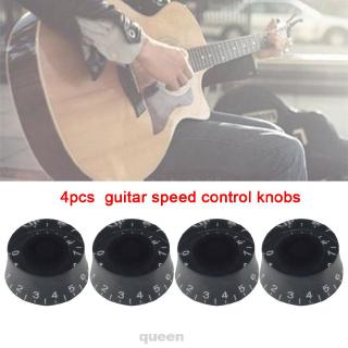 4pcs Repair Replacement Round Accessories Ultra Light Acrylic Top Hat Tone Volume Electric Guitar Speed Control Knobs