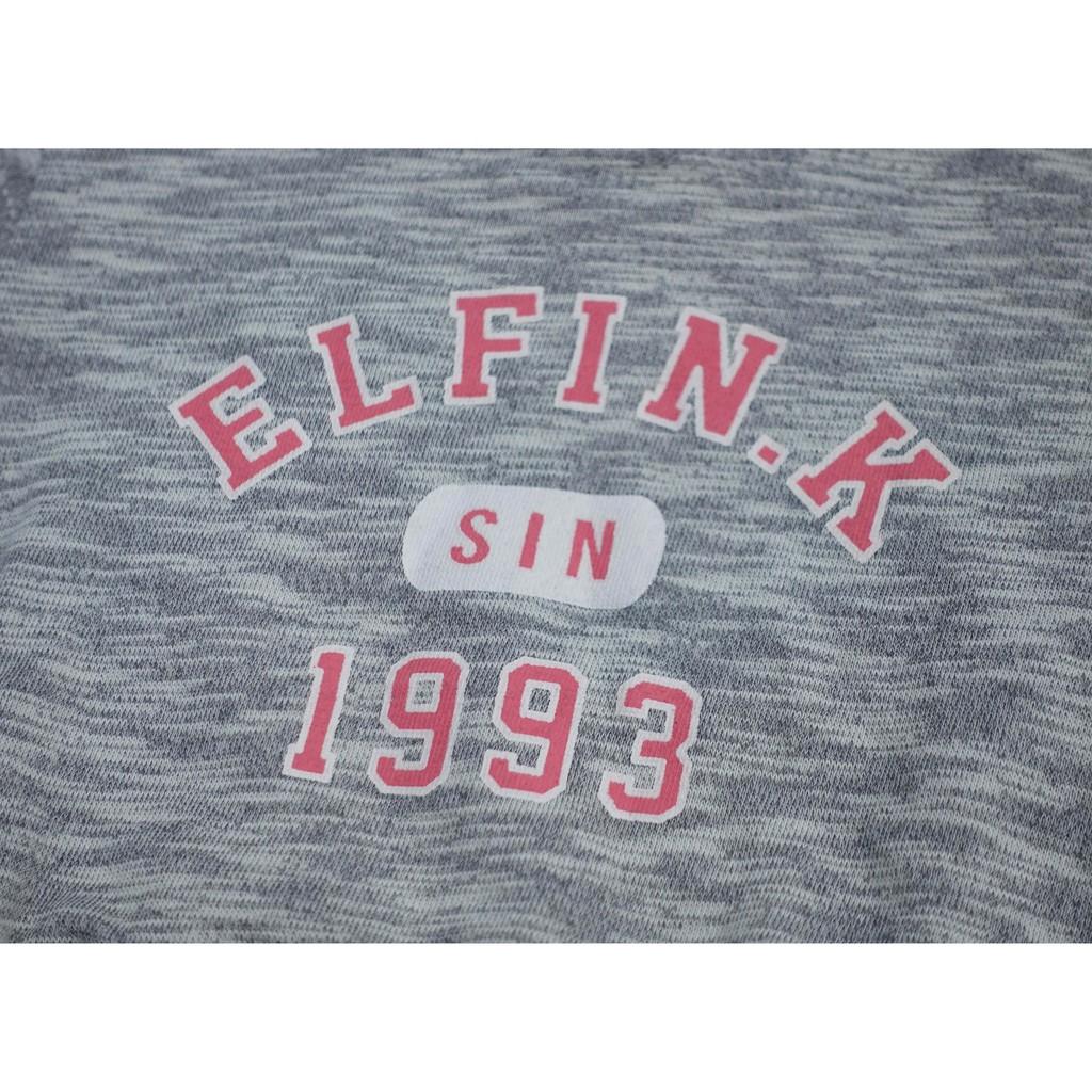 (1y, 2y, 3y, 6y) Áo nỉ cá mỏng chữ Elfin.k 1993