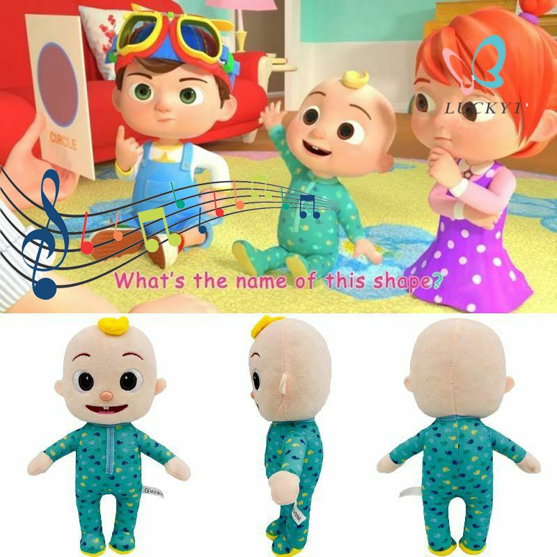 Singing Cocomelon JJ Plush Toy 26cm/10in Boy Stuffed Doll Educational Kids Children Birthday Gift