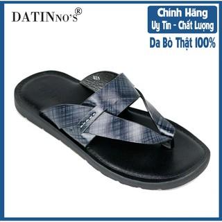 Dép Kẹp Nam Da Bò DATINNOS (Đen) - AH831