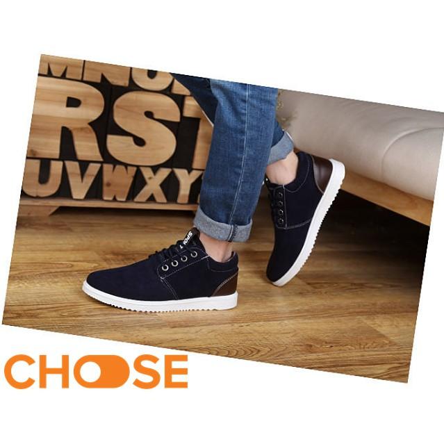 Giày Nam Choose Giày Da Lộn Nam Thể Thao Sneaker Cột Dây Lịch Lãm Gía Rẻ Cho Sinh Viên G26K4