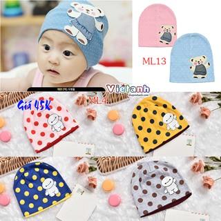 Mũ cotton cho bé trai và gái ( GIÁ SỐC )