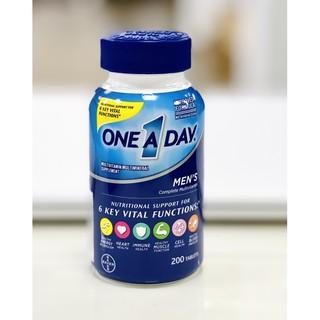One A Day Men's Multivitamin 200v hỗ trợ bổ sung vitamin cho nam giới dưới 50 tuổi