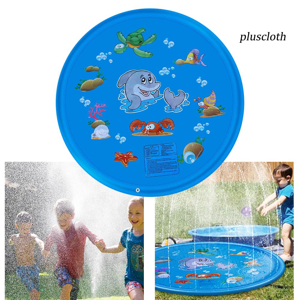 Plu_Outdoor Lawn Beach Sea Animal Inflatable Water Spray Kids Sprinkler Play Mat
