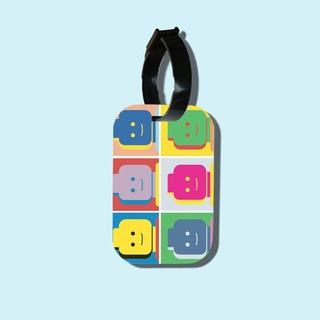 Travel tag cho túi xách balo du lịch in hình Lego Pop Art thumbnail