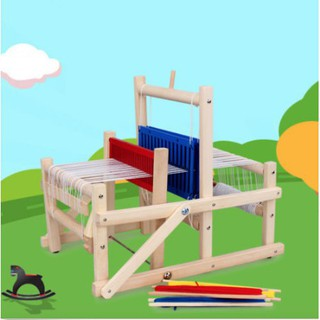 GY▲Wooden traditional weaving loom educational craft Baby art toys