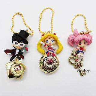 Sailor Moon Tsukino Usagi Chibiusa Tuxedo Mask Keychain Figures Toys 3pcs/set