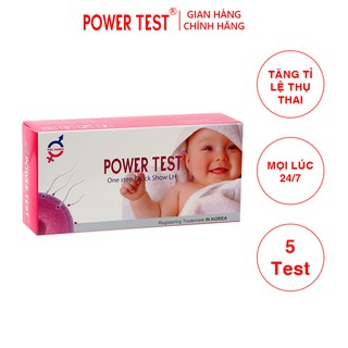 Que thử rụng trứng Powertest Hộp 5 chiếc