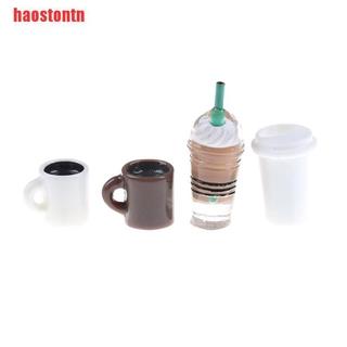 [haostontn]4Pcs Set Dollhouse Miniature Icy Top Coffee Mocha Cups Scale Model