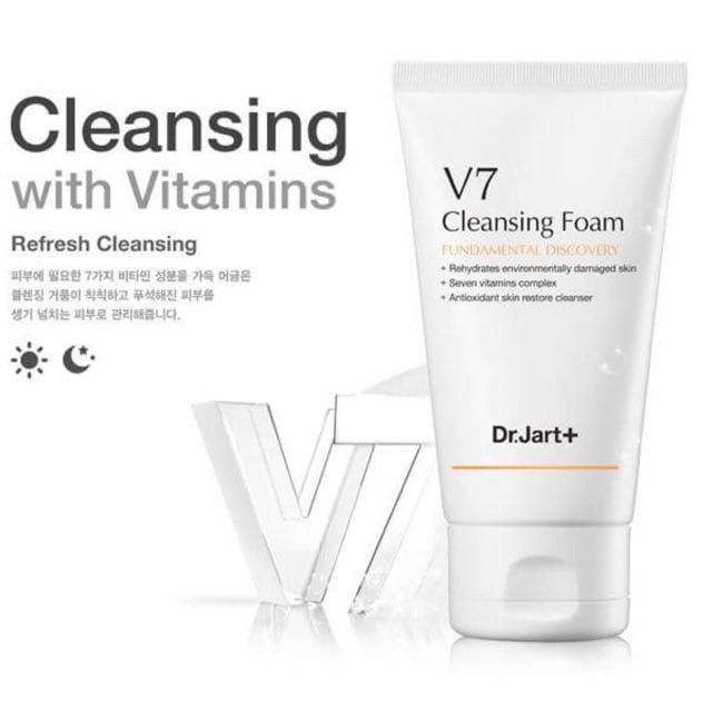 Follow Shop 19/03 Sữa rữa mặt làm trắng hồng da V7 Cleansing Foam Soft & Gentle