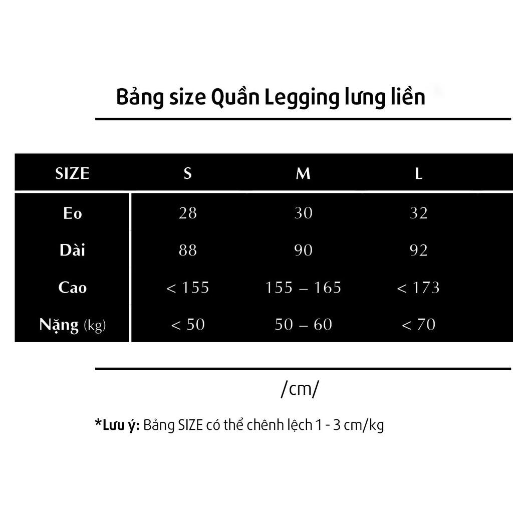 [Mã SKAMLTSM9 giảm 10% đơn 99K] Quần Legging Lưng Liền Đen Trơn Thun Co Giãn Mềm Mại