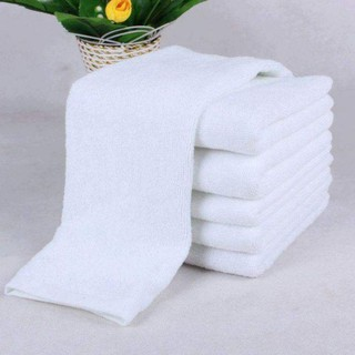 Sale sập sàn Khăn mặt - khăn lau tóc màu trắng cotton 100% siêu hút nước 34x82cm thumbnail