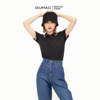 Hình ảnh Áo thun polo nữ, xẻ lai GUMAC đủ màu đủ size, thiết kế basic ATB109-1