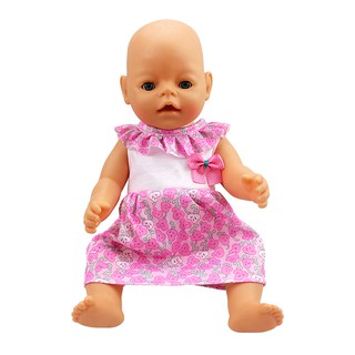18 inch American doll clothes doll dress pink collar skirt