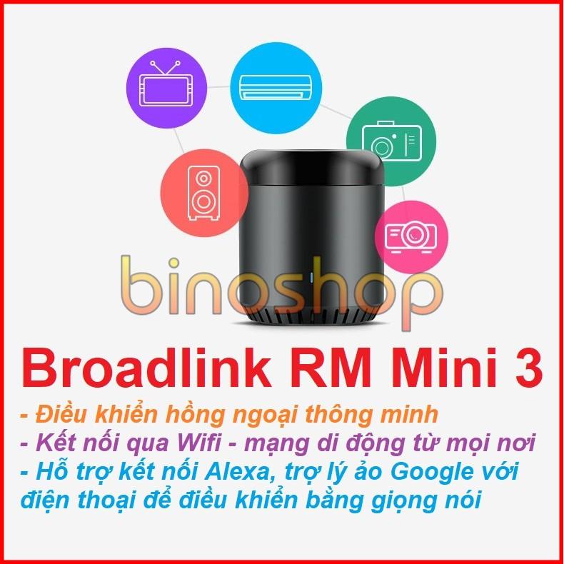 Điều Khiển Hồng Ngoại Thông Minh Broadlink RM Mini 3 (hỗ trợ Alexa, Google Voice) - Điều khiển thông minh...